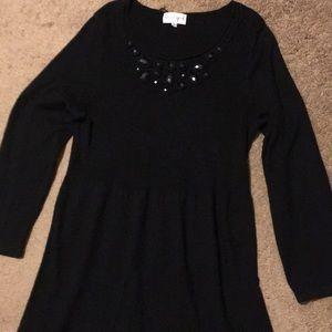 Used Black Color Women's Plus Size 2X Knit Dress